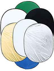 90 * 120 cm 7 en 1 multi foto ellipse inklapbare réflecteur de lumière Studio draagbare fotografie réflecteur