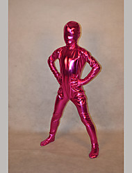 Festival/Holiday Costumes Rose Red Solid Zentai Kid Rubber Shine Fully Covered