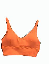 Women's Sleeveless Running Sports Bra Underwear Comfortable Sports Wear Yoga Leisure Sports Running Elastane Slim Solid Stripe Patchwork