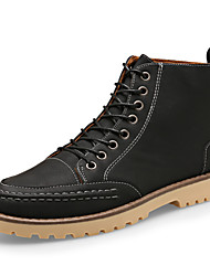 High Quality Men's Fashion Bootie Casual Combat Boots High Top Leather Shoes Snow Boots Flat Heel EU39-43