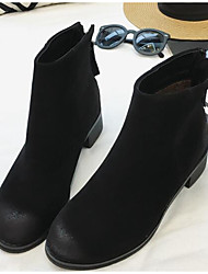 Women's Boots Others Leatherette Outdoor Low Heel Black