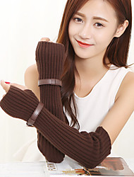 Women's Striped Knitwear Elbow Length Half Finger Cute/ Party/ Casual  Winter Fashion Warm Gloves