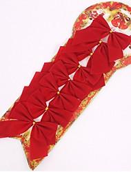 2017 heiß 8 Stück / Set Weihnachtsbaumdekoration rot bowknot Verzierungen golden silbrig Bogen weihnachten Dekoration des neuen Jahres
