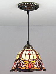 25W Pendant Light ,  Vintage / Retro Painting Feature for Mini Style Metal Bedroom / Entry