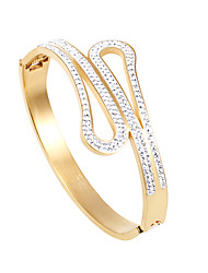 Kalen New Jewelry 18K Gold Plated Shiny Women Bangles Stainless Steel Rhinestone Fashion Bangles Female Accessories Gifts 2016