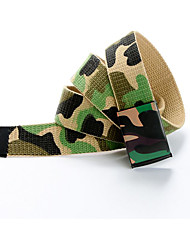 The new camouflage print hip-hop graffiti Korean version of the trend of casual canvas belt belt male and female couple