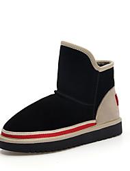 Women's Boots Winter Platform Other Cowhide Office & Career Dress Casual Low Heel Black Beige Other