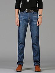 Hommes Grandes Tailles Droite / Mince Jeans / Chino Pantalon,Vintage / simple / Street Chic Décontracté / Quotidien / TravailCouleur