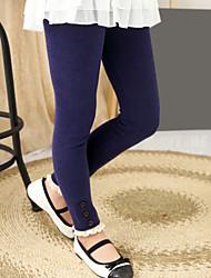 Girl's Solid Leggings,Cotton Spring / Fall Blue