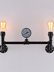 2 Heads Vintage Industrial Pipe Wall Lights Black Creative Lights Restaurant Cafe Bar Decoration lighting