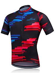 Fastcute Giacca da ciclismo Per uomo Manica corta Bicicletta Giacca di pelle Maglietta Felpa Tuta da ginnastica Maglietta/Maglia