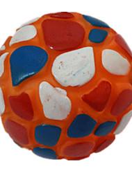 Dog Pet Toys Ball / Squeaking Toy Squeak / Squeaking Red / Pink / Orange Rubber