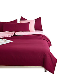 Mingjie Wonderful Burgundy and Jade Bedding Sets 4PCS for Twin Full Queen King Size from China Contian 1 Duvet Cover 1 Flatsheet 2 Pillowcases