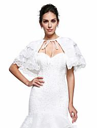 Women's Wrap Capelets Lace Wedding Party/Evening Appliques Lace