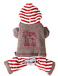 Dog Clothes/Jumpsuit Red / Gray / Beige Dog Clothes Winter / Spring/Fall Animal Keep Warm