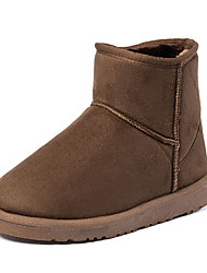 Women's Boots Fall / Winter Platform / Others / Comfort Suede Outdoor / Dress / Casual Low Heel Others Black / Yellow / Tan Walking