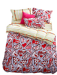 Mingjie Wonderful Red Flowers Bedding Sets 4PCS for Twin Full Queen King Size from China Contian 1 Duvet Cover 1 Flatsheet 2 Pillowcases
