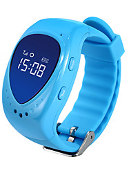LEKEMI Sem Fio Outros Kids Children GPS Tracker Watch Smartwatch with Live tracking, SOS Call, Google Map and Geofence Alarm Azul / Rosa