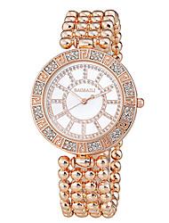 BAOSAILI Women's Fashion Watch Round Case Japanese Quartz Steel Band Watch Jewelry