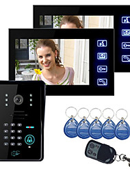 "Touch-Taste 7 ""LCD-Video-Türsprechanlage Gegensprechanlage Wth IR-Kamera-& Tastatur-Code 1V2"
