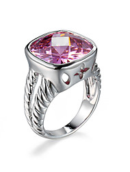 Fashion Female Small Crown ring pink Cubic Zircon platinum plating Women jewelry Engagement Wedding Rings