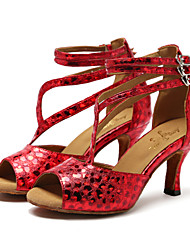 Women's Dance Shoes Synthetic Synthetic Latin / Jazz Sandals / Heels Stiletto Heel Professional / Indoor / Performance