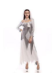 Cosplay Costumes Wizard/Witch / Vampire Movie Cosplay White Solid Dress / Headwear Halloween / Carnival Female Polyester