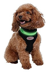 LED Luminous Mesh Pets Safety Belt Harness for Pets Dogs(Assorted Sizes and Colours)