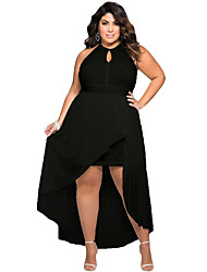 Women's Stylish Black Lace Special Occasion Plus Size Dress