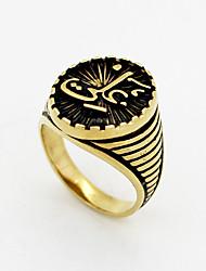 Ringe Hochzeit / Party / Sport Schmuck Edelstahl Herren Ring 1 Stück,Eine Größe Goldfarben / Silber
