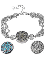 Bracelet Chain Bracelet Alloy Gift / Daily / Casual / Outdoor Jewelry Gift Silver,1pc