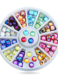 1pcs 5mm  Nail Art Multicolor 3d Glitter AB Rhinestone Wheel DIY Strass Beads Nail Beauty Decorations