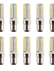 3.5 B15 Luminárias de LED  Duplo-Pin BA 64 SMD 2835 240-260LM lm Branco Quente / Branco Frio Regulável / Decorativa / Impermeável V 10 pçs