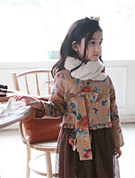 Girl Casual/Daily / Sports Patchwork Sweater & Cardigan,Cotton Winter / Fall
