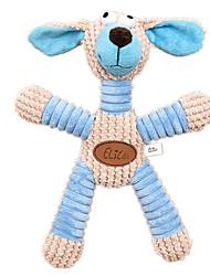 Собаки Игрушки для животных Игрушки с писком Скрип Синий / Розовый Текстиль