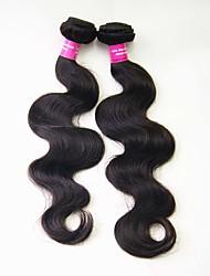 1 Pièce Ondulation naturelle Tissages de cheveux humains Cheveux Malaisiens 0.2kg 8-30 inch Extensions de cheveux humains
