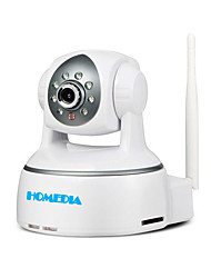 HOMEDIA® 1.0 MP PTZ Indoor with IR-cut Max 64GB Supported but micro sd card/TF card (not Included) Day Night Motion Detection