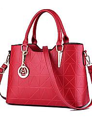 M.Plus® Women's Casual Tassel Plaid PU Leather Messenger Shoulder Bag/Tote
