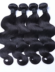 Mongolian Remy Hair Extension Body Wave Natural Black Hair Weaves 100g/piece 4pieces Package