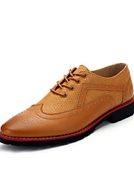 Men's Fashion Bullock Caved Shoes Comfort Oxfords Wedding Shoes Party & Evening Low Heel Lace-up