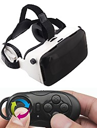 GEPRO VR Virtual Reality 3D Glasses with Foldable Earphones for 4 - 6 inch Smartphone with Bluetooth Gamepad Controller