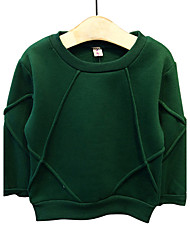 Pull à capuche & Sweatshirt Garçon Sortie / Décontracté / Quotidien Couleur Pleine Coton Printemps / Automne Manches longues Normal