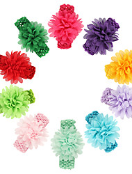 11Pcs/set Baby Girls Chiffon Flower Headband With Wide Elastic Heaband Todder Hair Accessories Infant Hairband