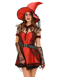 6pcs Mischievous Witch Halloween Costume