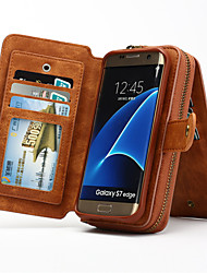 Multi-functional Removable Portable Genuine Leather Wallet Case For Samsung Galaxy S8 S4 S5 S6 Edge Plus S7 Edge