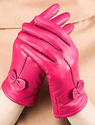Для женщин На каждый день До запястья С пальцами,Зима Полиуретановая Однотонный