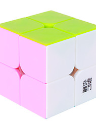 Yongjun® Cube velocidade lisa 2*2*2 Velocidade Cubos Mágicos / Brinquedo Educativo Arco-Íris Etiqueta lisa / Anti-pop / mola ajustável ABS