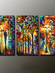 Hand-Painted Abstract / Abstract Landscape 100% Hang-Painted Oil Painting,Modern Three Panels Canvas Oil Painting For Home Decoration