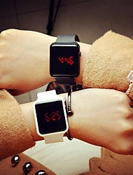 Муж. Спортивные часы Цифровой LED силиконовый Группа Повседневная Черный Белый Красный Фиолетовый Хаки Кот