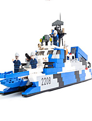 Action Figures & Stuffed Animals / Building Blocks For Gift  Building Blocks Model & Building Toy Warship / Aircraft Carrier ABS5 to 7